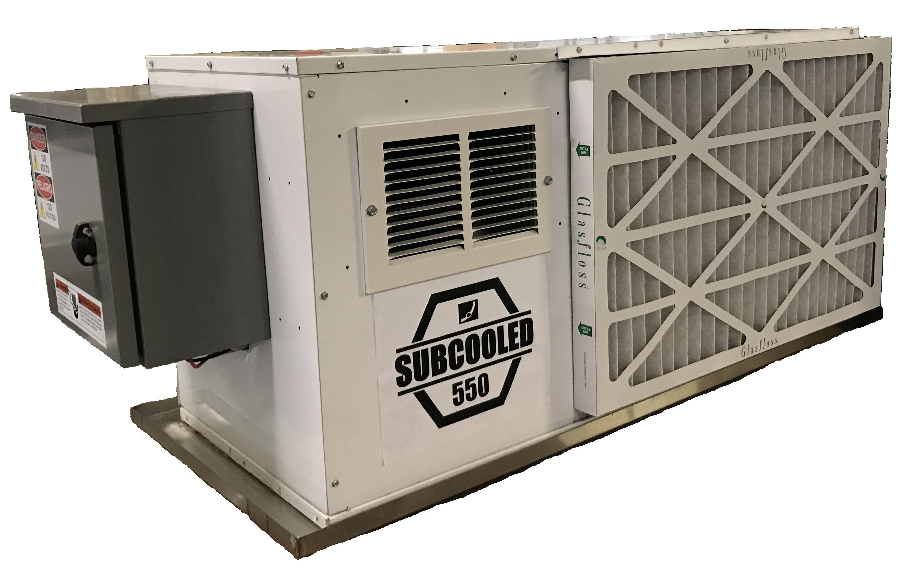 Picture of the Subcooled 550 Hybrid Dehumidifier - a Grow Room dehumidifier and cannabis dehumidifier.