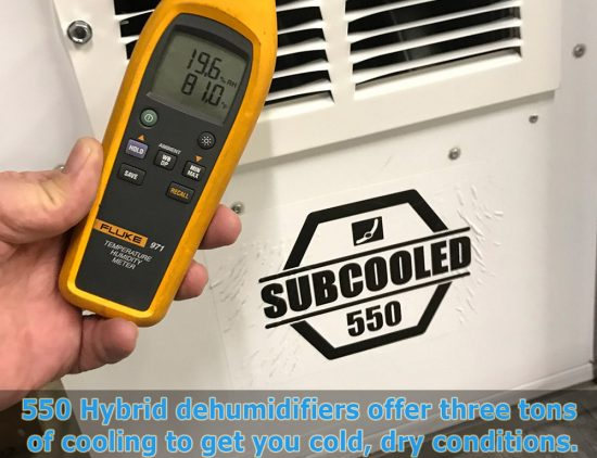 Subcooled 550 Dehumidifier and humidistat